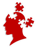 People head with puzzles Stock Photo