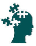 People head with puzzles Stock Photos