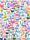 People head seamless background vector Royalty Free Stock Images