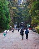 People head toward Toshogu Shrine Royalty Free Stock Photo