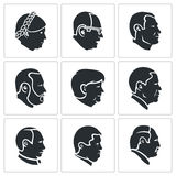 People head Vector Icons Set Stock Photos