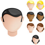 People Heads Male and Female. Stock Photos