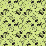 People heads seamless pattern stock illustration
