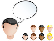 People Heads Speech Bubble. Stock Image
