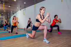 People at the health club with personal trainer Stock Photography