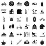 People health icons set, simple style. People health icons set. Simple set of 36 people health vector icons for web isolated on white background stock illustration