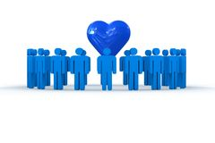 People with heart Royalty Free Stock Photo