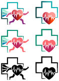 People heart care. Vector drawing represents people heart care design Stock Photos