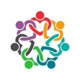 People in Heart Cooperative Teamwork Logo Illustration Stock Photos