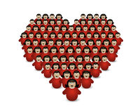 People hearts isolated Royalty Free Stock Photos