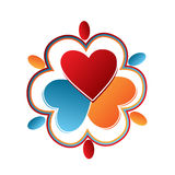 People hearts logo Royalty Free Stock Images