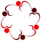 People hearts logo Stock Photo