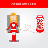 People are hero for blood donation vector Stock Photography