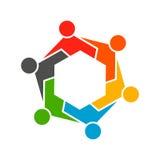 People Hexagon Group Teamwork Logo. Royalty Free Stock Photography