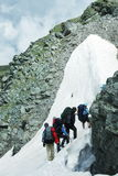 People in high  hike Stock Images