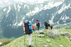 People in the hike Royalty Free Stock Images