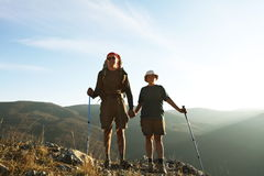 People in hike Stock Photos