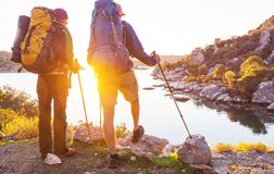People in hike royalty free stock photos
