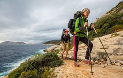 People in hike stock photography
