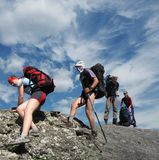 People in hiking Royalty Free Stock Photos