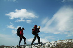 People in hiking Stock Images