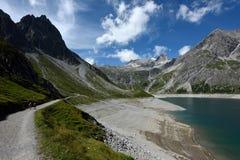 Lunersee, Montafon, Vorarlberg, Austria Stock Photography