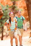People hiking - couple hikers in Bryce Canyon Royalty Free Stock Photo