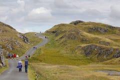 People hiking in Ireland Stock Photo