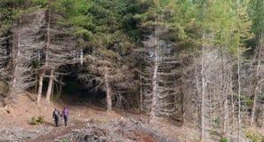 People hiking, Isle of Skye Royalty Free Stock Image