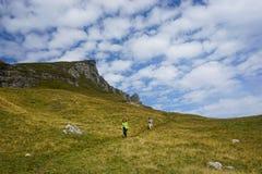 People hiking in Romania Stock Photo