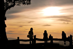 People on the hill Chiangmai Thailand Royalty Free Stock Photos