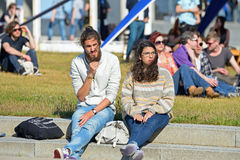 People (hipsters) at Heineken Primavera Sound 2014 Festival Stock Photos