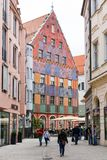 People at the historic center of Augsburg Stock Images