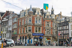 People in historic centre of Amsterdam, the Netherlands Royalty Free Stock Photo