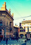 People in historical center of Bologna Stock Photos