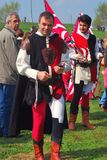 People in historical costumes Royalty Free Stock Image