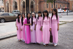 Vietnamese girls  Royalty Free Stock Photos