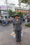Vietnam war veteran in Ho Chi Minh city Stock Photography