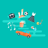 People hobbies and interests banner Royalty Free Stock Photos