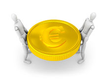People hold coin Royalty Free Stock Photography