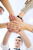 People hold hands together Stock Photography