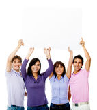 People holding a banner Stock Photography