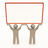 People holding blank banner Stock Image