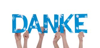 People Holding Danke Stock Images