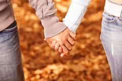 People holding each other by hands Stock Photography