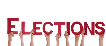 People Holding Elections Stock Photo