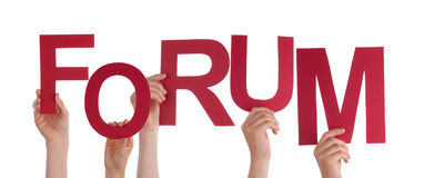 People Holding Forum Royalty Free Stock Images