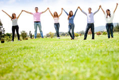 People holding hands Stock Image