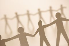 People holding hands Stock Photo