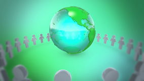 People Holding Hands Around Earth stock video